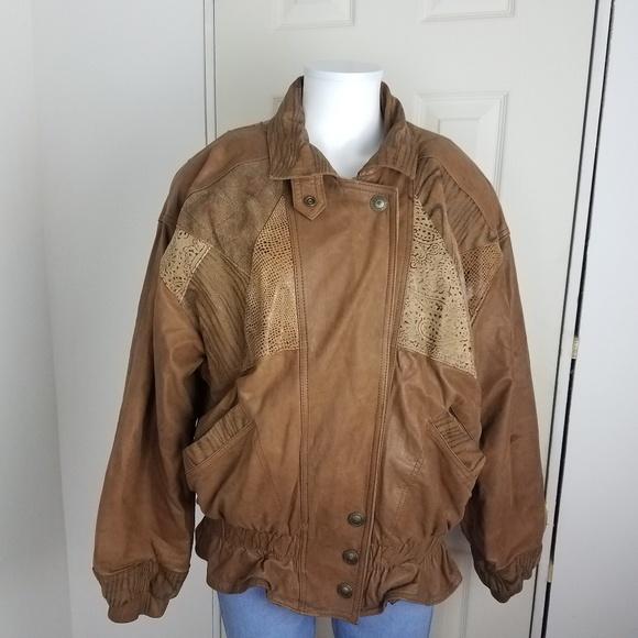 fe101840a VTG WINLIT Women's Med Brown SUEDE LEATHER Jacket